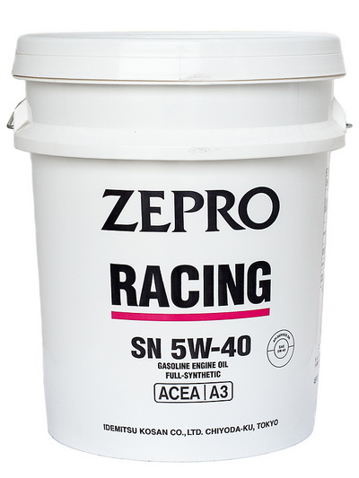 Моторное масло ZEPRO RACING  5W40 SN/ ACEA A3 20L