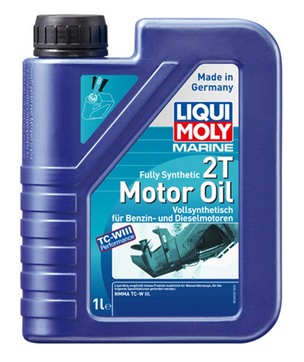 Масло моторное синт.Marine Fully Synthetic 2T Motor Oil NMMA TC-W3 1л